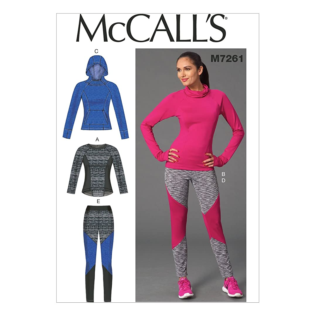 McCall's Patterns M7261 Misses' Tops & Leggings, A5 (6-8-10-12-14)