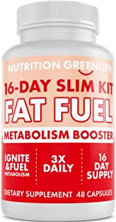 16-Day Weight Loss Fat Fuel - Premium Thermogenic Weight Loss Fat Burner - Metabolism Booster - Chromium, Caffeine, Garcin...