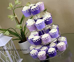 All About Details Seventy Cupcake Wrappers Kits, Set of 32 (Purple Ombre)