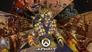 XXW Artwork Overwatch Junkrat Poster Character/Defense Prints Wall Decor Wallpaper