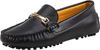 Shenduo Classic, Mocassins Femme Cuir - Loafers Multicolore - Chaussures Bateau & de Ville Confort D7067