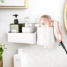 YOHOM Hair Dryer Holder Hanging Rack Adhesive Blow Dryer Storage Basket Wall Mount Hair Care Styling Tool Organizer Bathro...