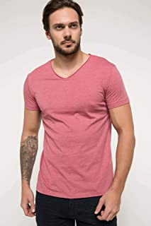 DeFacto Erkek Tişört Basic V Yaka T-shirt