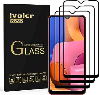 ivoler 3-pack skärmskydd för Samsung Galaxy A20s, [full täckning] härdat glasfilm för Samsung Galaxy A20s, [9H hårdhet] [A...