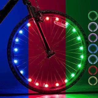 LEBOLIKE Bike Spoke Light Waterproof Colorful LEDs Bike Wheel Lights for Bicycle Wheel Spoke Decorations