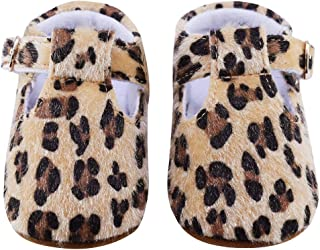 Baby Girl Soft Sole Shoes Toddler Boy Leopard Buckle Moccasins for Infants Babies Glitter Sneaker