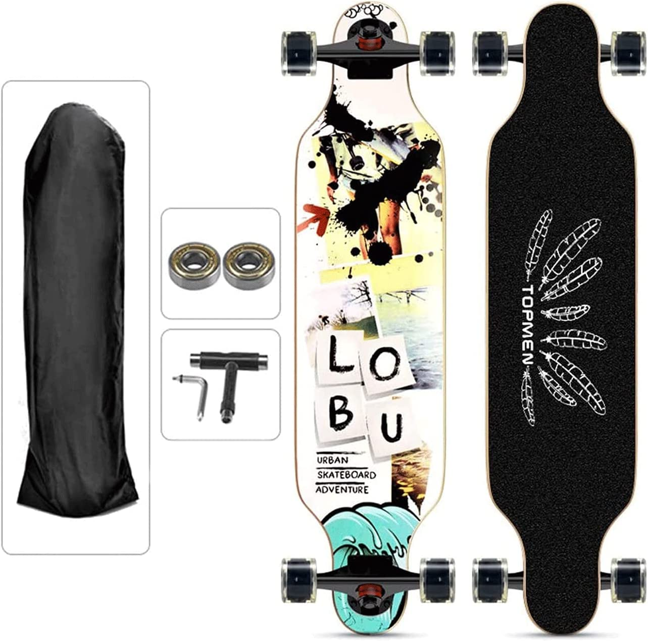 EEGUAI New product!! Longboard Skateboard 9 Layer Complete Denver Mall Maple Cr