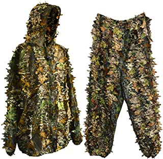 Bantoye Ghillie Hunting Suit, Breathable Camouflage Lightweight Clothing Suits Cosplay Woodland Clothing for Halloween Cosplay