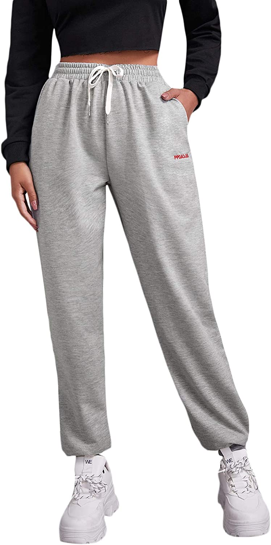 DIDK Women's Casual Button Front Flap Pocket Drawstring Sweatpants