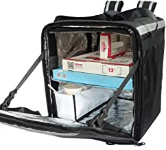 """PK-76F: Packir Doubledeck Insulated Pizza/Food Delivery Backpack Bag, 16""""x 15""""x 18"""", with Divider and Cup Holder, Keep Hot..."""