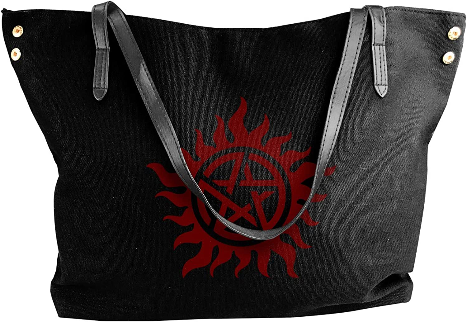 Supernatural Women'S Leisure Canvas Handbag For School Work Bag