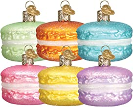 Old World Christmas Glass Blown Ornament with S-Hook and Gift Box, Assorted Treats Collection (Macaron)