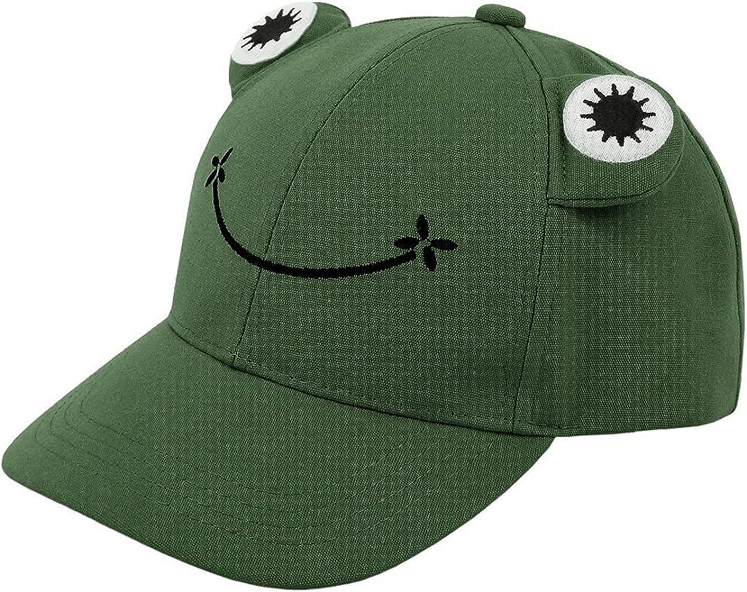 Giovacker Girls Boys Sparkle Sequins Baseball Cap Cat Ear Peak Adjustable Sunhat
