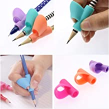 Okayji Children Pencil Holder Pen Writing Aid Grip Posture Correction Tool, 3-Pieces Set