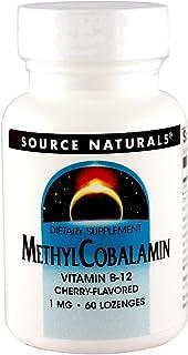 Source Naturals MethylCobalamin Vitamin B-12 1000mcg Cherry Flavored Sublingual - 60 Lozenges (Pack of 2)
