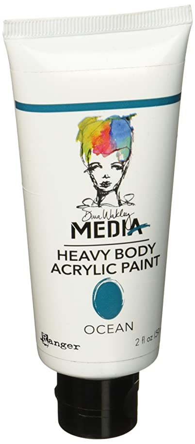 Ranger MDP48848 Dina Wakley Media Heavy Body Acrylic Paint, 2 oz, Ocean