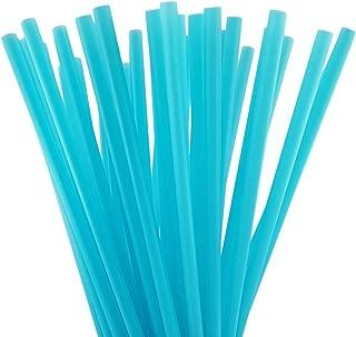 10 Inch Drinking Straws (250 Straws) (10 Inch x 0.28 Inch) (AQUA)