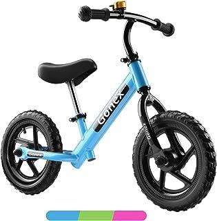 Gonex Kids Balance Bike 12 Inch Lightweight No Pedals for 2, 3, 4, 5 Years Old Boys Girls Toddler Balance Bike Adjustable Push Bike with Aluminum Alloy Frame & EVA Foam Tires