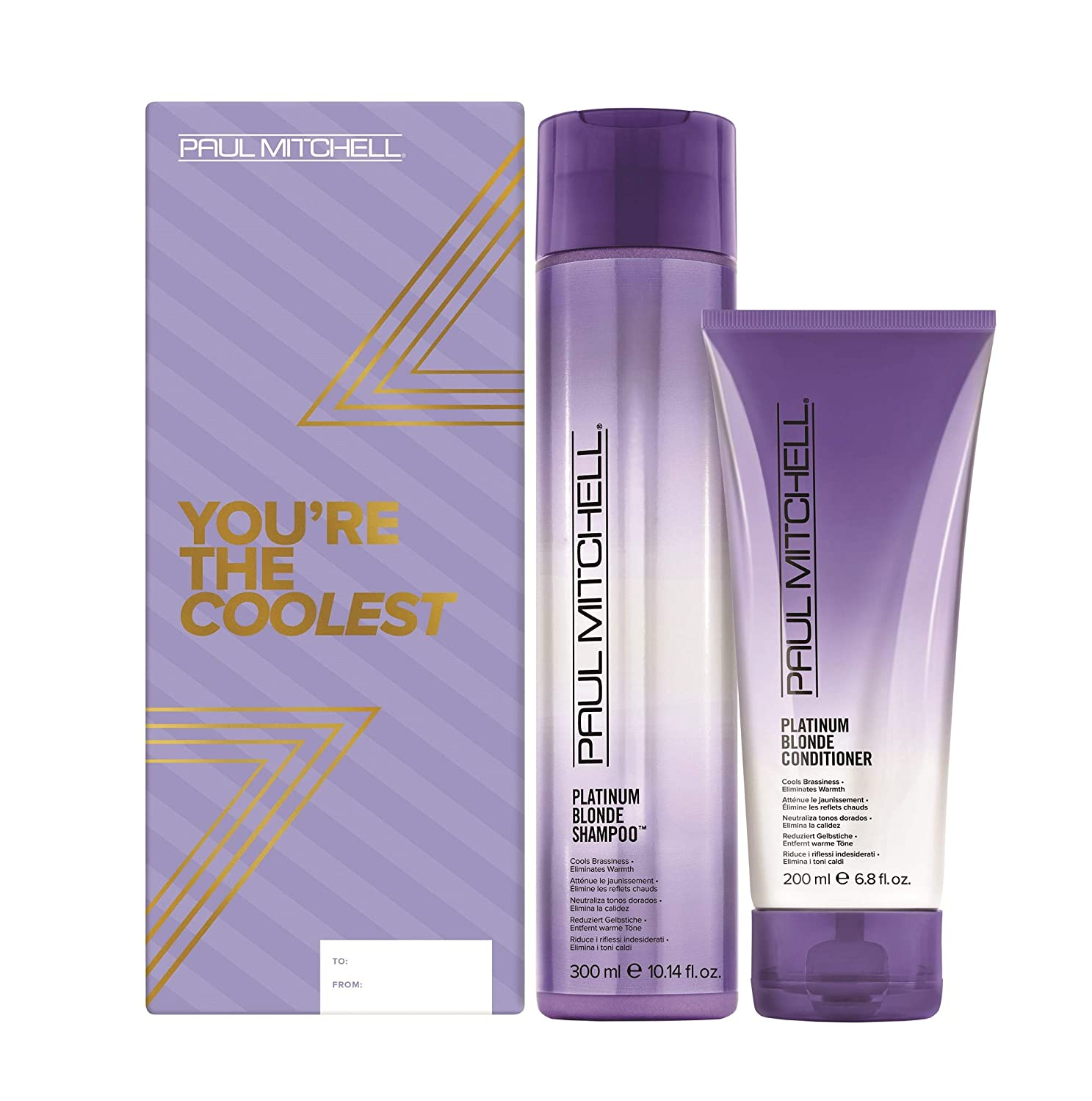 Amazon.com: Paul Mitchell Platinum Blonde Holiday Gift Set ($31 Value) :  Beauty & Personal Care