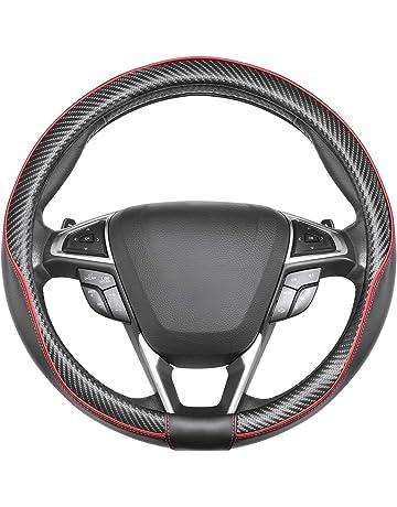 WWEEO Coprivolante Coprivolanti per Auto Cinese Dragon Design Coprivolante in Pelle PU Riflettente///Accessori/Busines/ Nero con Blu