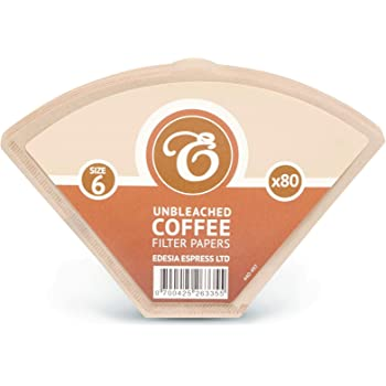 EDESIA ESPRESS - Pack de 80 filtros de papel para café - Tipo cono ...