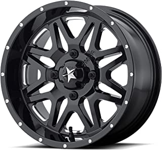MSA Vibe 16x7 Black Milled Wheel / Rim 4x110 with a 0mm Offset and a 86.00 Hub Bore. Partnumber M26-06710M