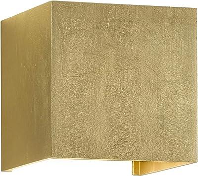 WOFI Lampe d'intérieur, salon, Applique murale, lampe murale, lampe dorée, moderne métal 5 W, or