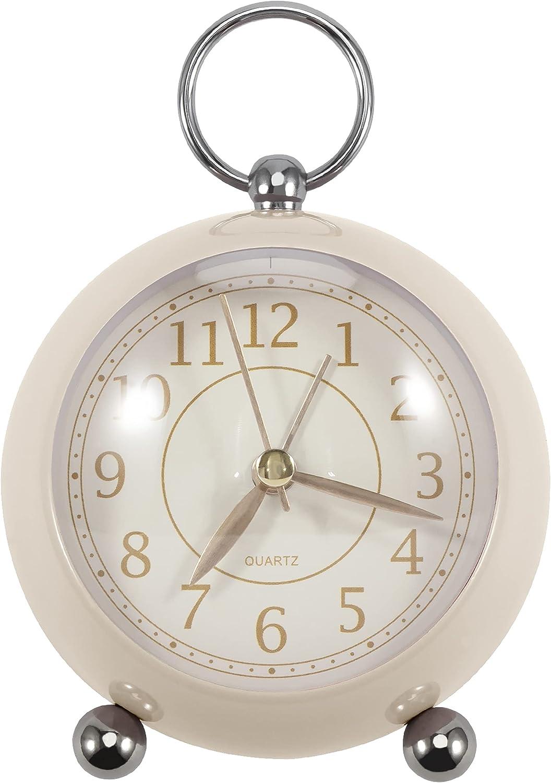 Lumuasky Analog Alarm Clock Non-Ticking Max 56% OFF Classic Battery Silent National uniform free shipping