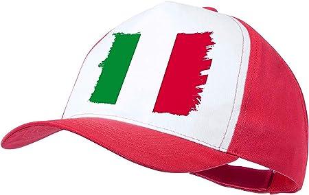 MERCHANDMANIA Gorra Rosa Bandera DE Italia Color Cap: Amazon.es: Deportes y aire libre