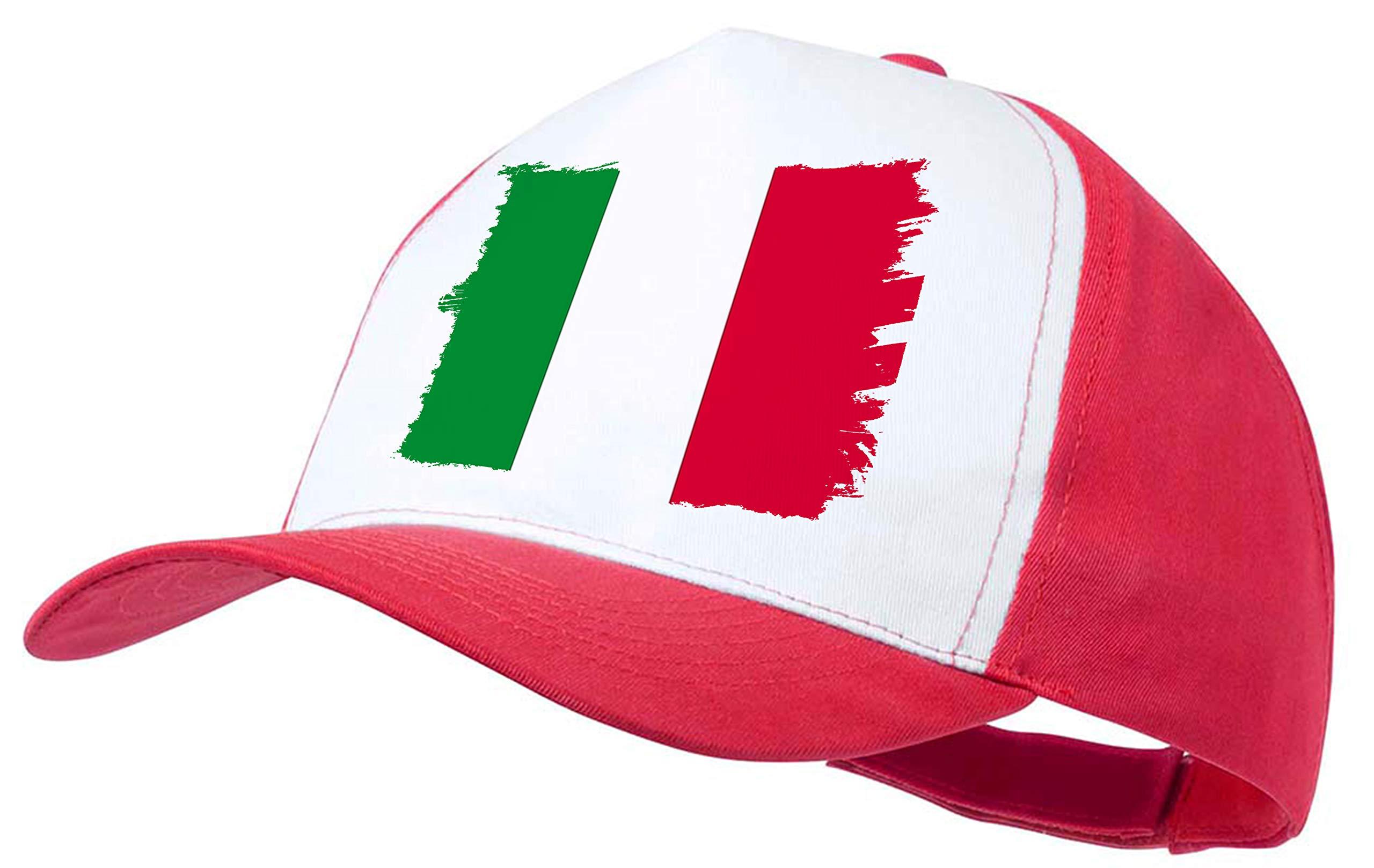 MERCHANDMANIA Gorra ROJA Bandera DE Italia Color Cap: Amazon.es: Deportes y aire libre