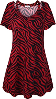 Bulotus Women V Neck Short Sleeve Summer Dress