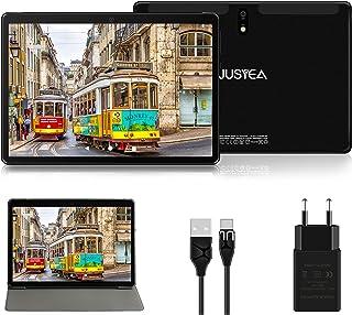 10 tums surfplattor med Android 10.0 Ultraportable surfplatta - 64 GB utbyggbart | 4 GB RAM (GOOGLE GMS -certifierat) JUSY...