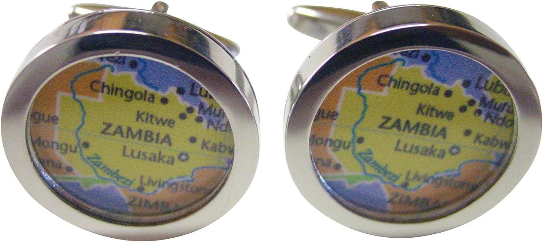 Zambia Map Cufflinks