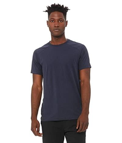 ALO The Triumph Crew Neck Tee (Solid Navy Tri-Blend) Men