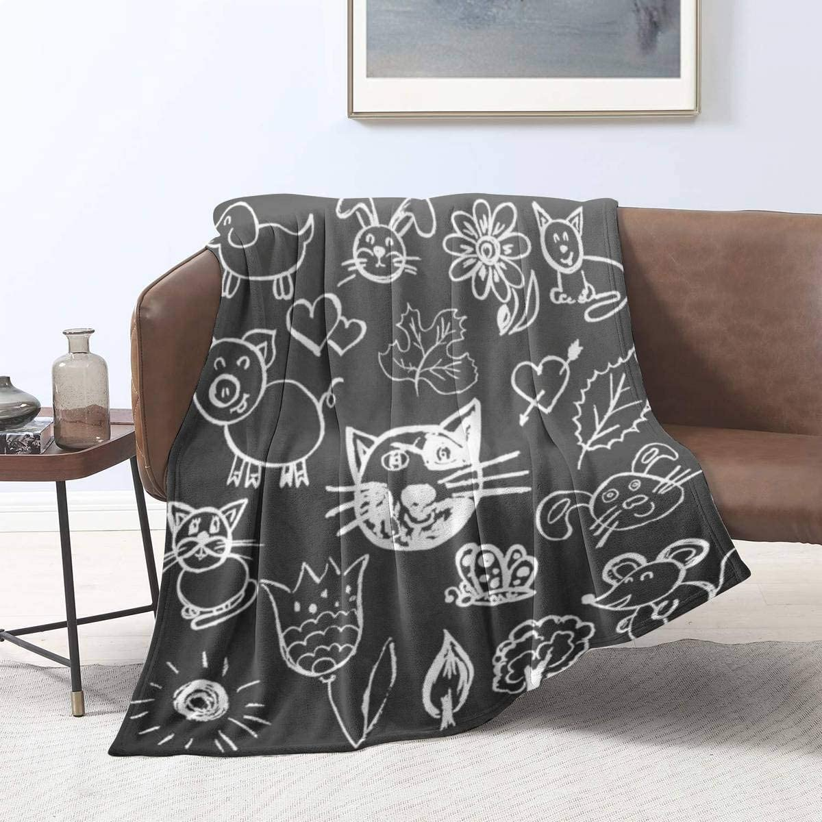Ellekiwi OFFicial shop Flannel Blanket Cute Safety and trust Children's Signs Drawing Sym Icons