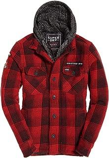 Mens Everest Storm Hooded Jacket Rigger Red Check