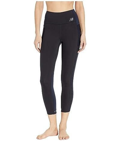 New Balance Q Speed Crop Pants (Black/Eclipse) Women