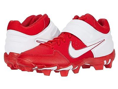 Nike Alpha Huarache Varsity Keystone Mid (University Red/White) Men