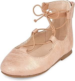 The Children's Place Kids' Tg Lace-up June Ballet Flat
