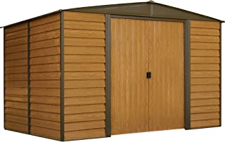 Arrow WR108 Woodridge EG, 10 by 8-Feet Steel Storage Shed, 10' by 8', Neutral