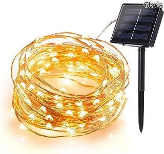 Cadena Luces Solares, Gloriz 22M 200 LED 8 Modos 3 Hilos de