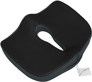 Gideon coxis Cojín Ortopédico coxis Cojín de asiento para silla de oficina, coche, camión, sillas de ruedas, etc.–proporciona alivio para dolor de espalda baja, dolor de coxis, ciática, pélvica, Próstata, etc. [actualizado]