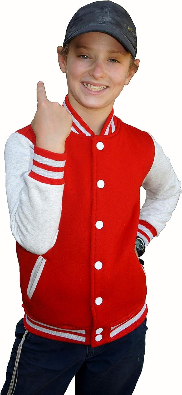 School Sport Sweatshirt Baseball Jacket for kids