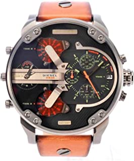Men's Mr. Daddy 2.0 Analog-Quartz Leather Brown with Black Dial DZ7332