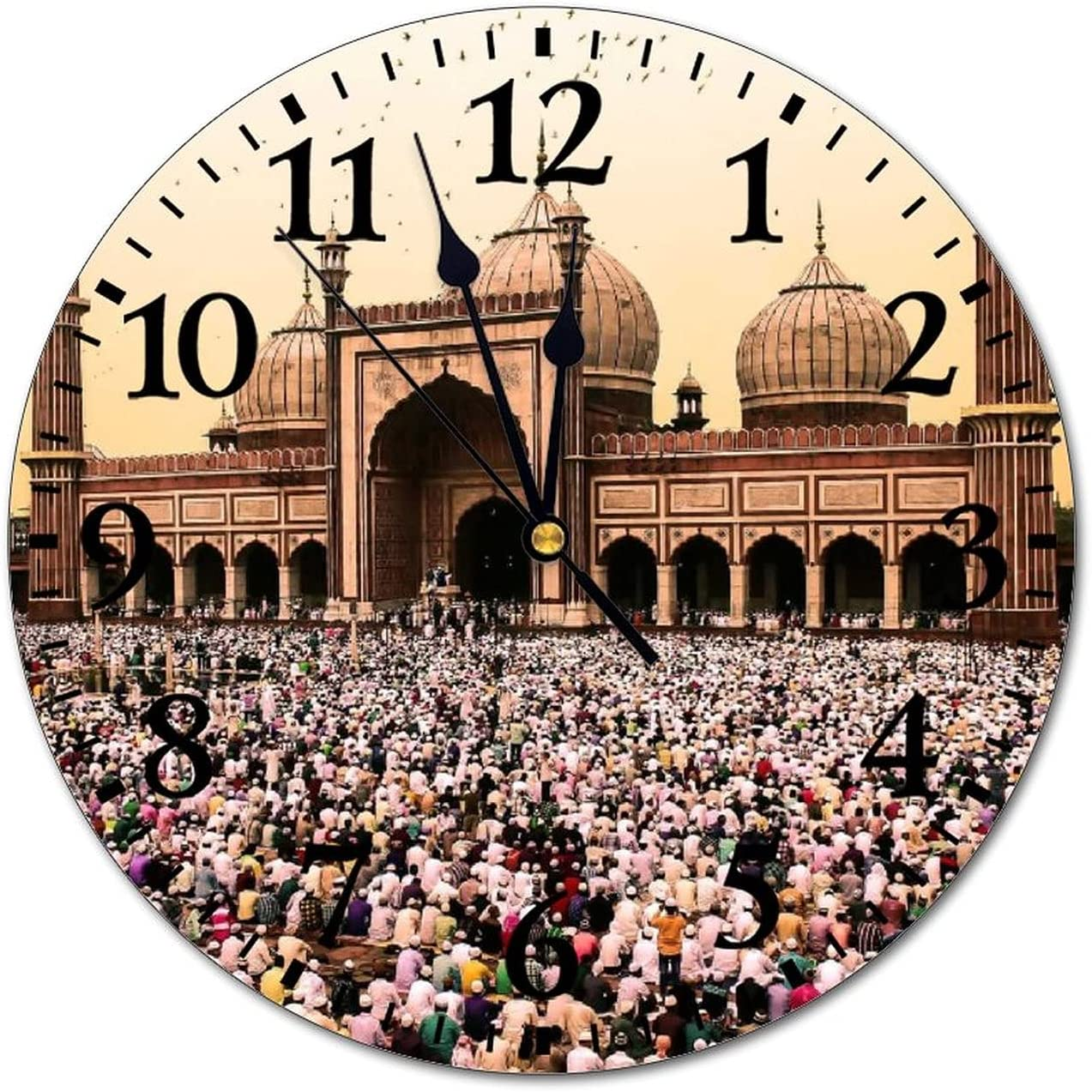 Anyuwerw Jama Masjid Delhi Sales of SALE items from new works Vintage Wood Wall Roun Inch 12 High material Clock