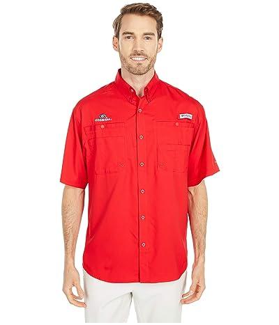 Columbia College Georgia Bulldogs Tamiami Short Sleeve Shirt (Bright Red) Men