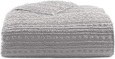Martha Stewart On the Dot Smoke Stack Twin Comforter Gray