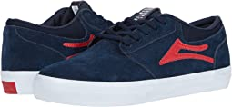 Navy/Red Suede