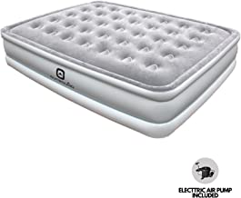 Outbound Queen Air Mattress with Electric Air Pump | Premium Portable Airbed | Inflatable Mattress Blow Up Bed | Includes Carry Bag, Queen
