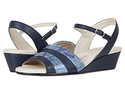 Amalfi by Rangoni Marostica (Navy Parmasoft/Blue Animal Suede) Women